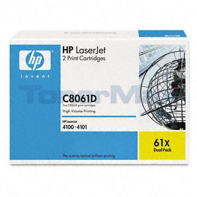 HP LASERJET 4100 PRINT CARTRIDGE BLACK DUAL PACK